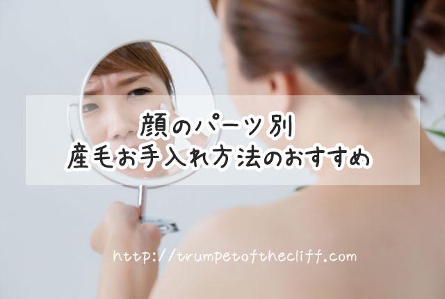 顔のパーツ別産毛処理方法